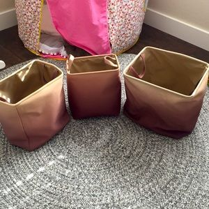 Soft ombré storage totes. Set of three